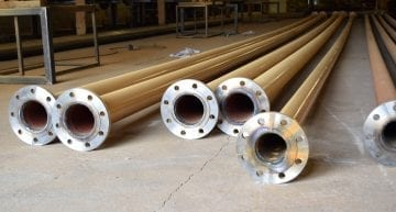 Pipe manufactured in houe by Gas Pipe Works