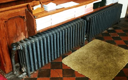 church heating repair on radiator system