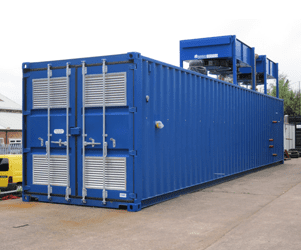 Large containerised nationwide boiler hire 30MW