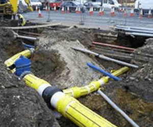 hot tapping - under pressure drilling on below ground gas pipe